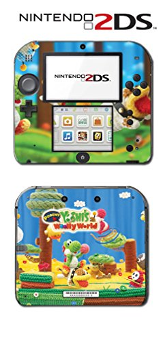 Poochy & Yoshi's Woolly World Island Beads Video Game Vinyl Decal Skin Sticker Cover for Nintendo 2DS System Console
