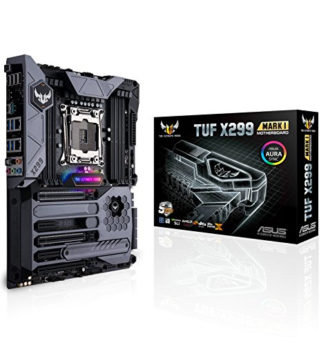 ASUS TUF X299 Mark 1 LGA2066 DDR4 M.2 USB 3.1 Dual LAN X299 ATX Motherboard for Intel Core X-Series Processors