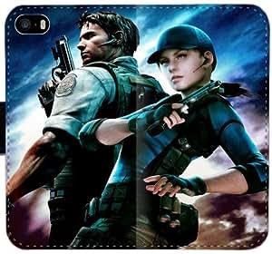 Caja del cuero de Resident Evil N5V3I Funda iPhone 5C funda 0Y4144 celular del caso del tirón del teléfono Funda Deportes personalizada
