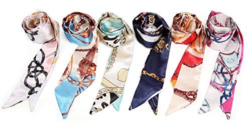 (Obosoyo 6pcs Fashion Bag Twill Handbag Handle Ribbon Scarf Package Band Hair)
