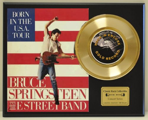 BRUCE SPRINGSTEEN Limited Edition Gold 45 Record Display. Only 500 made. Limited quanities. FREE US SHIPPING