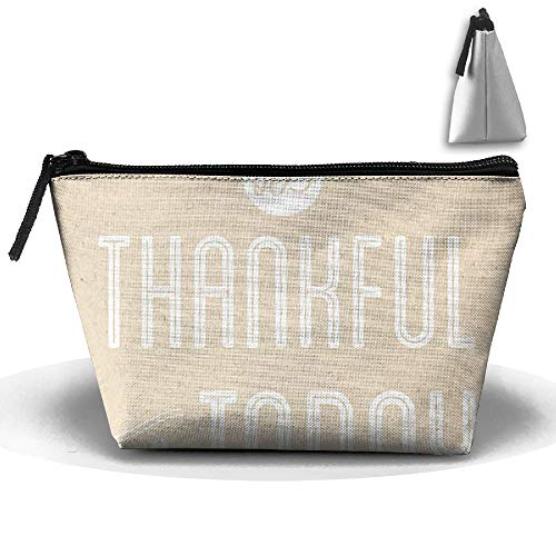 Travel Cosmetic Bags Thankful for Today Small Makeup Bag Multifunction Pouch Cosmetic Handbag Toiletries Organizer Bag for Women Girl -