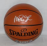 Magic Johnson Signed Silver Official NBA Spalding Basketball - Beckett Auth