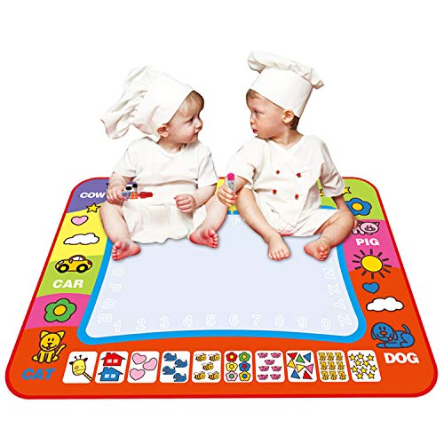 (Coolplay 4 Color Children Water Drawing Mat Board & Magic Pen Doodle Kids Educational Toy Gift 31.5