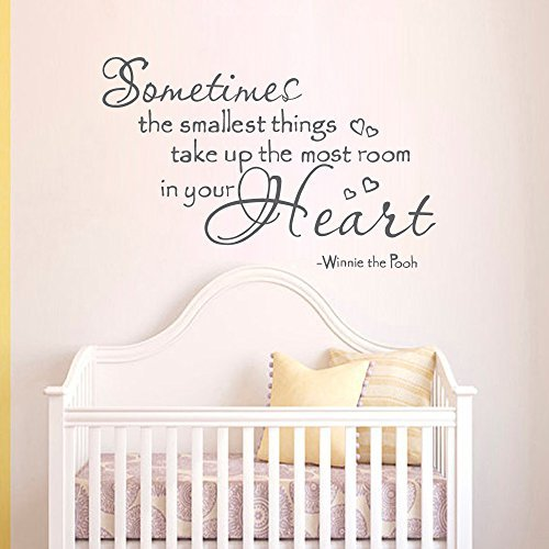 Wall Decal Decor Winnie The Pooh Wall Decals Quotes   Sometimes The  Smallest Things Take Up Part 91