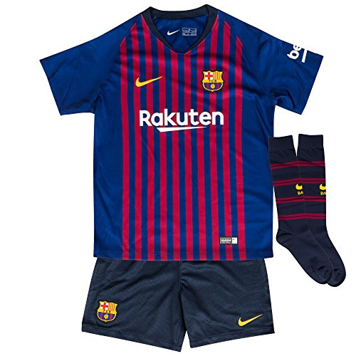 on sale c230f 44fc1 NIKE 2018-2019 Barcelona Home Little Boys Mini Kit - Import ...
