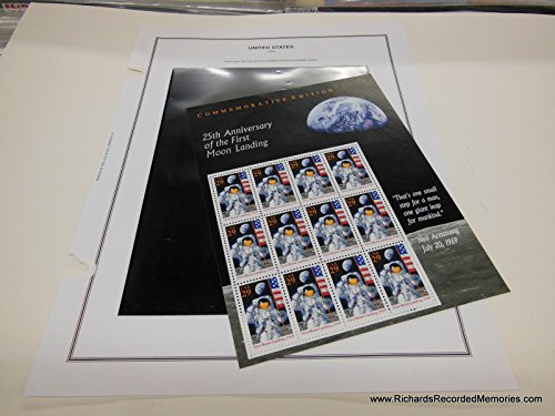 Scott 2841 25th Anniversary of the First Moon Landing - Sheet with Twelve 29c Stamps