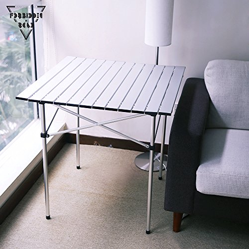 Forbidden Road Aluminum Folding Camping Table Lightweight Portable Picnic  Table With Carry Bag Stable Durable Easy Set ...