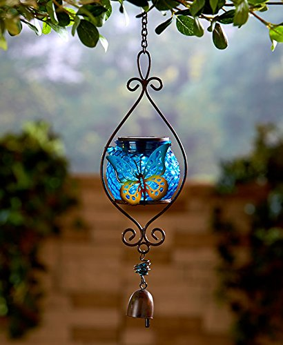 Butterfly Lantern (Butterfly Hanging Solar Lantern with Bell)