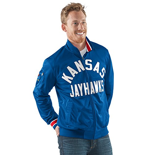 (G-III Sports NCAA Kansas Jayhawks Men's Contender Full Zip Track Jacket, Medium, Royal)