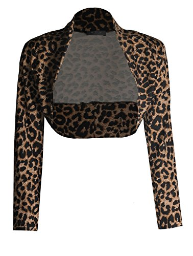 (Forever Womens Long Sleeves Leopard Printed Crop)