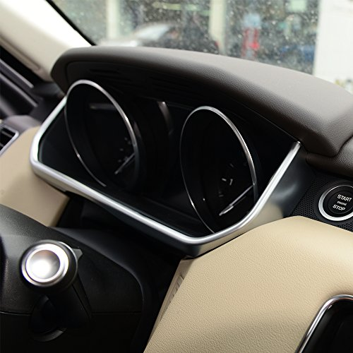 YUECHI For Land Rover Range Rover Sport RR Sport 2014-2017 ABS Chrome Car Dashboard U Shape Frame Trim