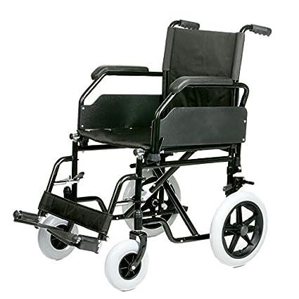 Silla de ruedas plegable de acero de asiento 50 cm: Amazon ...