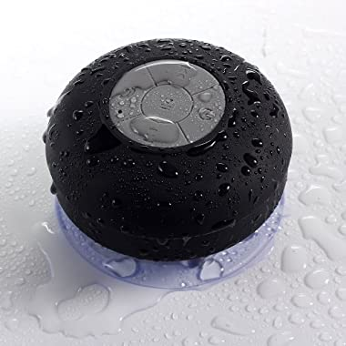 Noot SoundPod IPx4 HD Water Resistant Bluetooth Shower Speaker for Apple iPhone / iPad/ iPod, All Samsung Galaxy, Android Smartphone and MP4 / MP3, Black