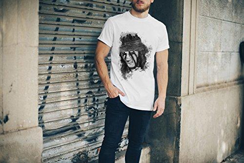 Lone Range T-Shirt Herren, weiß mit Aufdruck