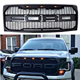 TIKSCIENCE Fit 2009-2014 Ford F-150 F150 Grille Matte BLACK Raptor Style Conversion Grill w F&R