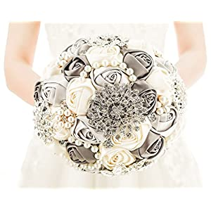 Pavian Advanced Customization Romantic Bride Wedding Holding Bouquet Roses 56
