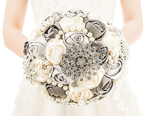 [MY DARLING] Advanced Customization Romantic Bride Wedding Holding Bouquet Roses Multi-color (Purple And Grey Wedding)