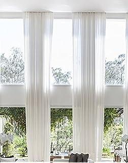 Beau Ikiriska 2 Long Sheer Curtains For 2 Story High Ceiling, Custom Made Length  12,