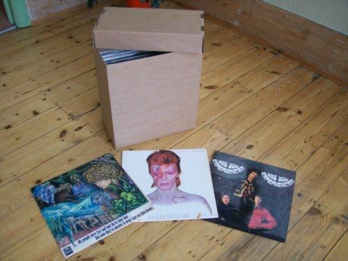 LP +12' SINGLE STORAGE BOX x1 BROWN - super strength- - EACH HOLDS 40-50 RECORDS! RECORDBOXXX