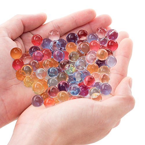 Bocks Shooting Gun Crystal Bullets, 2400pcs Examination Beads Water Polymer Ball Paintball for Kids Children (Water Polymer Ball)