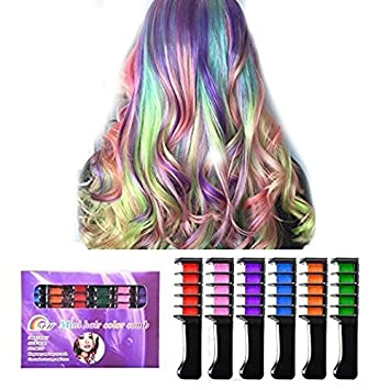 Amazon.com: Temporary Hair Chalk Comb, Ociga Hair Color Comb with ...