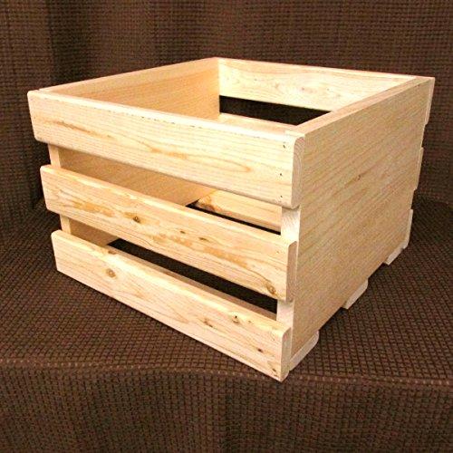 14'' CRATE Vinyl LP Record Cube Storage Box - Wood Record Album Box