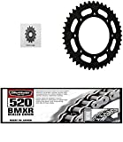 BIKEMASTER 520 BMXR Sealed Chain, SUNSTAR Front & Rear Steel Sprocket Kit for Street KAWASAKI KLR 650 1990-2016