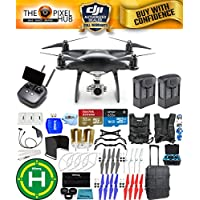DJI Phantom 4 Pro+ Black Obsidian Edition Drone Pro Bundle With Rolling Case, Vest Strap, Extra Props, Filter Kit Plus Much More (2 Batteries Total)