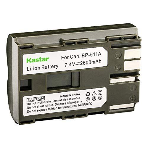 (Kastar Lithium-Ion Battery Replacement for Canon BP-511 BP511 BP-511A and Canon PowerShot G1 G2 G3 G5 G6 PRO1 Pro 90 IS Digital Rebel EOS D60 D30 40D 30D 20D 10D 5D Camera)