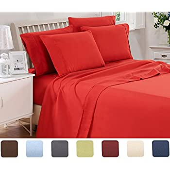 3 Piece Lux Decor Bed Sheets Set ,Hotel Quality Brushed Microfiber Flat,Fitted  Sheet