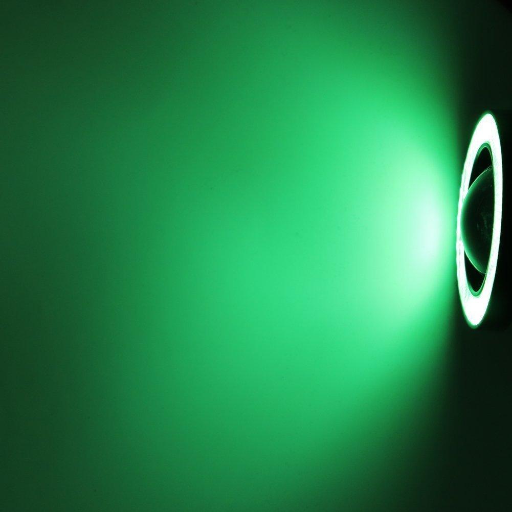 alta potencia Blanco halo ojo de /ángel Luz antiniebla COB LED de LEDHOLYT 3.0in 12.00volts luz de xen/ón blanca para conducci/ón diurna 2 unidades