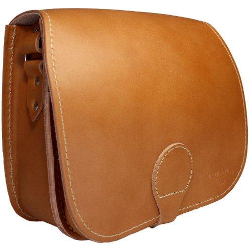 DELARA Borsa da caccia in cuoio di alta qualità - Made in Germany. Colore: marrone