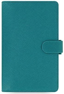 Filofax 2017 Compact Organizer, Saffiano Aquamarine, Paper Size 6.75 x 3.75 inches (C022528-17)