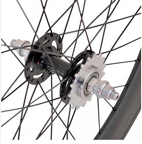 Sunrise Bike Carbon Track 88mm Matte Finish Clincher Rear Wheel for Fixed Gear Bike by SunRise (Image #4)