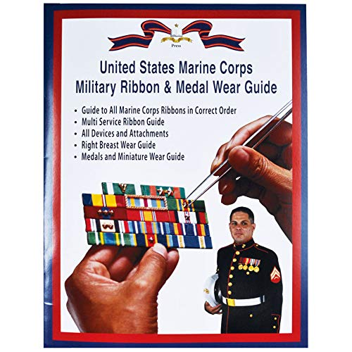 Medals of America USMC Military Ribbon & Medal Wear Guide Softback Book Multicolored (Army Awards And Ribbons Order Of Precedence)