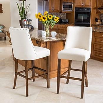 Amazon Com Linon Home Decor Bar Height Corey Stool Stone