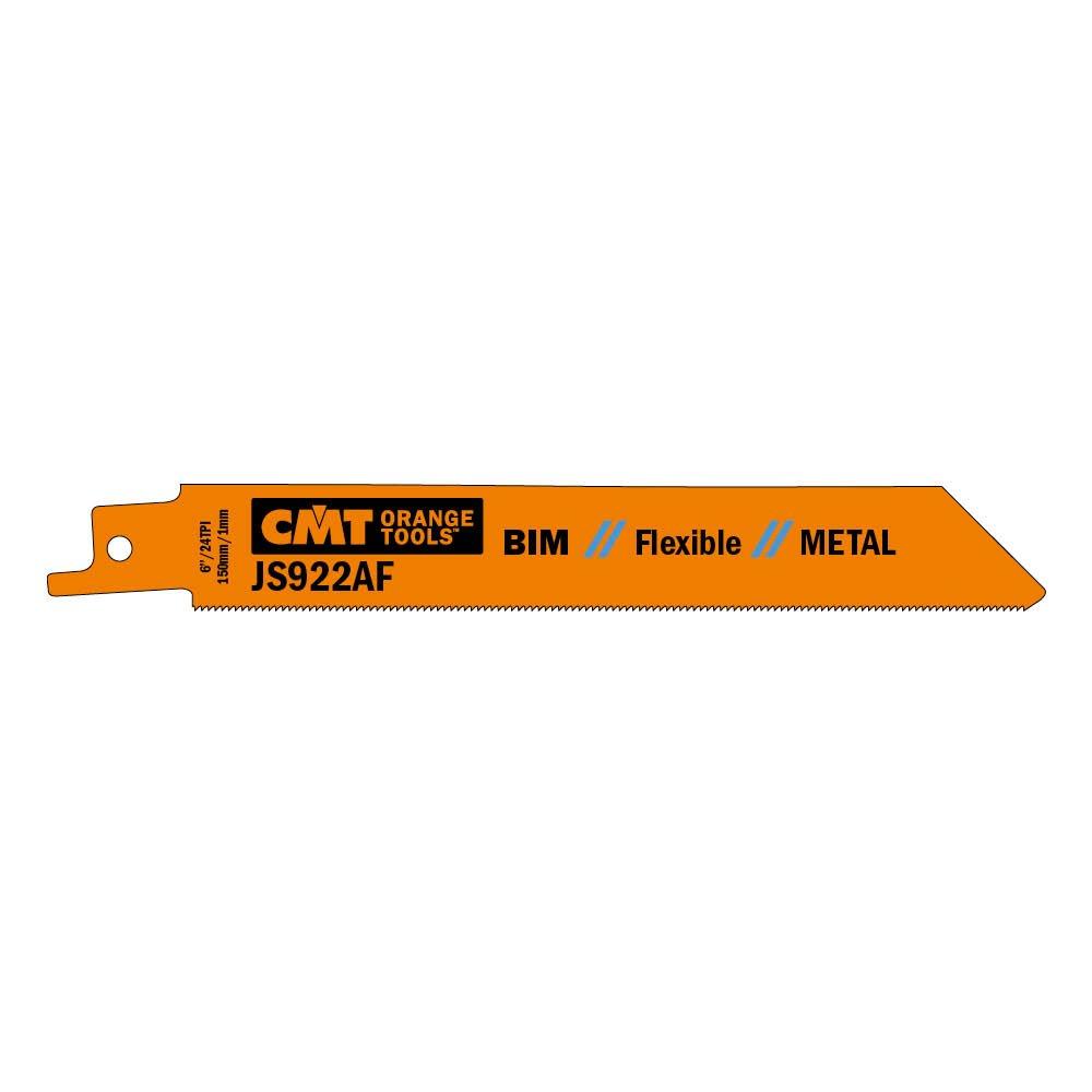 CMT USA, Inc. JS922AF-5 CMT 24 TPI Bimetal Reciprocating Saw Blades for Metal (5 Pack), 5''
