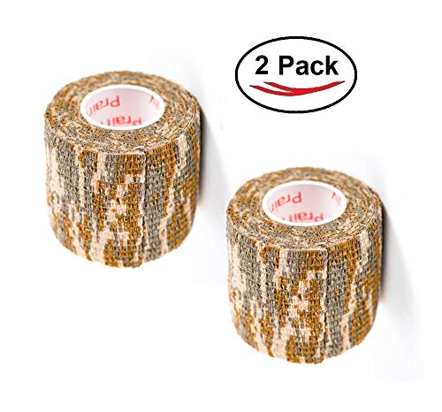 Vet Wrap Tape Self Adhesive Cohesive Bandage, FDA Approved, Camo Camouflage Colors Dog Cat Horse Self Stick Adherent Bandaging Tape Protect Cover Outdoor Gear 2 inch x 5 Yards 2, 4, 6, 12 or 24 Pack