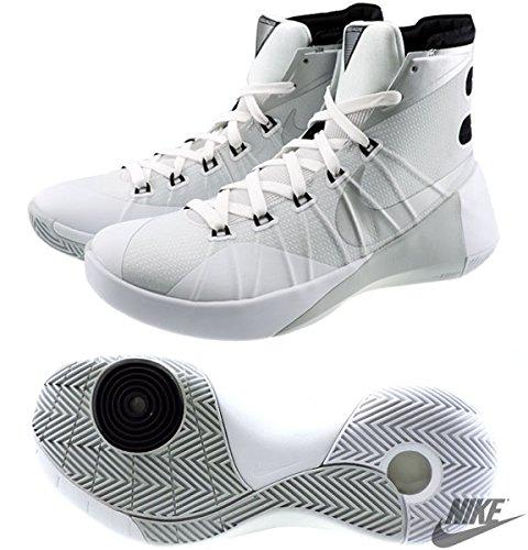Nike Womens Hyperdunk 2015 TB Basketball Shoe White/Metallic Silver/Black ye1bIC