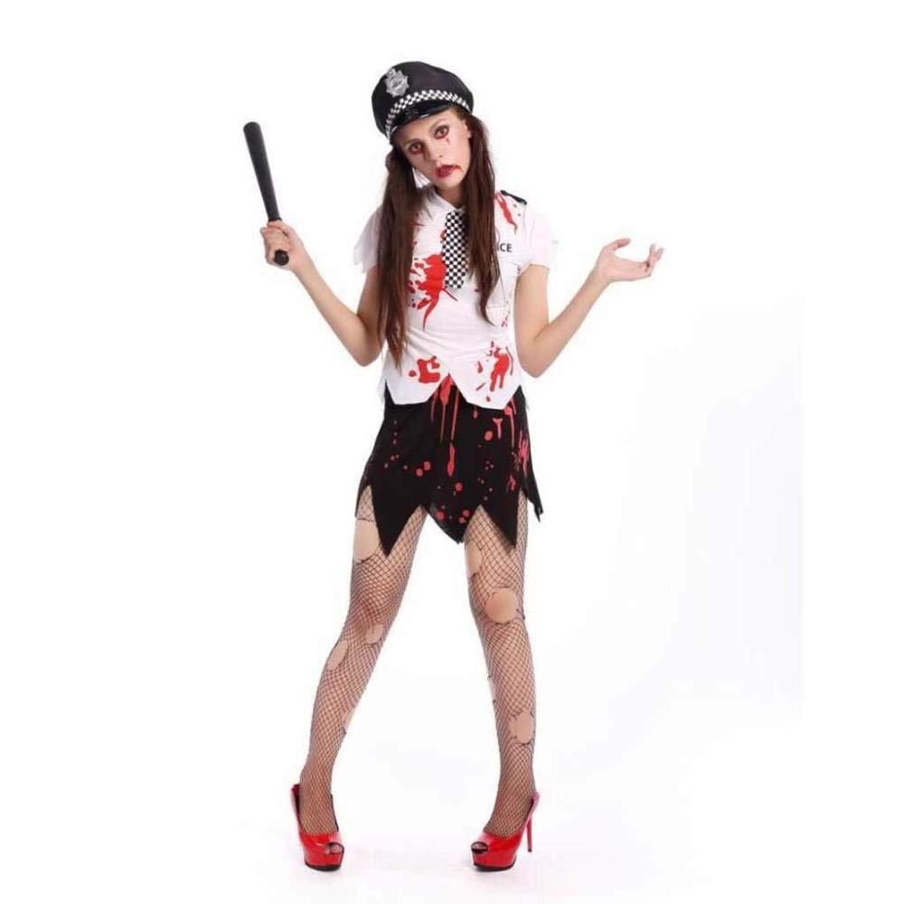KAIDILA Traje de Halloween Vampiro Blanco Zombie Mujer ...