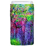 The Wind Whispers Wisteria - Duvet Cover, Twin