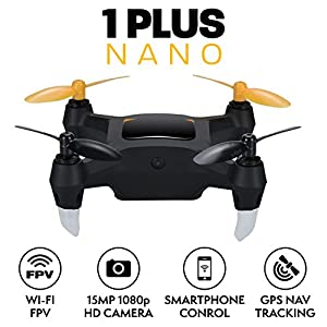Nano Drone with Camera Live Video 1080p HD Mini Camera Drone with GPS for Beginners Outdoor or Indoor Drone Quadcopter from Force1