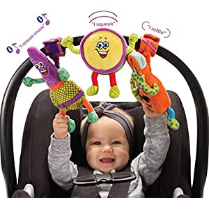 Lil' Jammerz Baby Music Toys for Car Seat or Stroller: Includes a Bluetooth Speaker to Stream Music or White Noise, and…