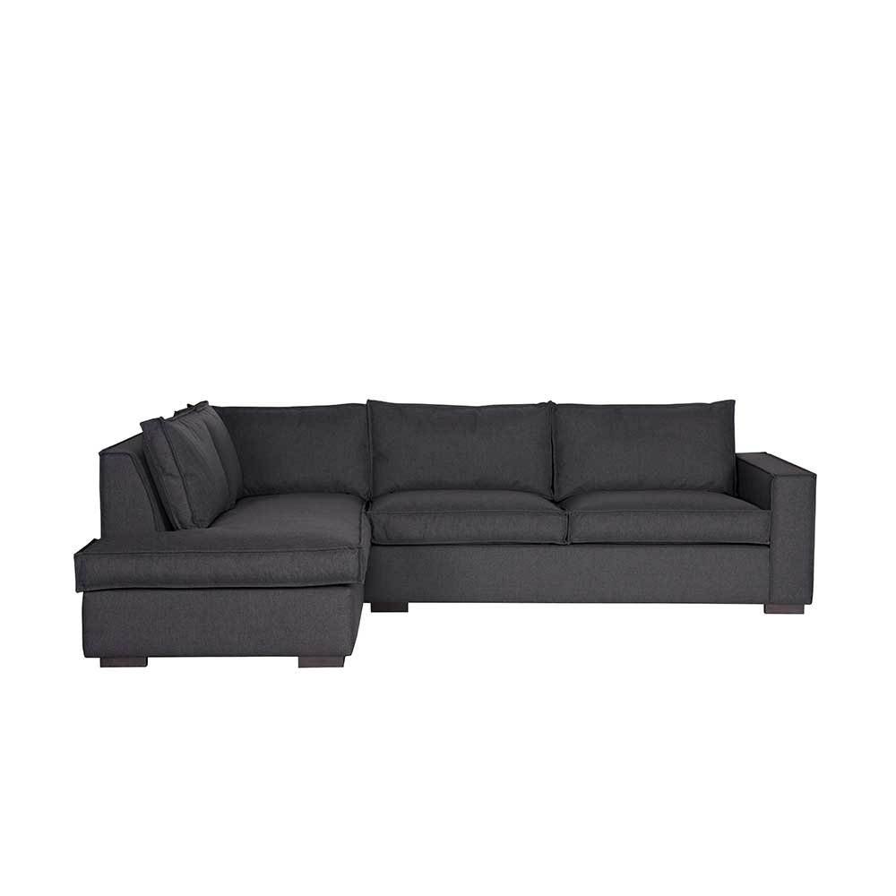 Ecksofa in Anthrazit Stoff Pharao24