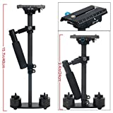 "YaeCCC 15.7''/40CM Carbon Fiber Handheld Camera Stabilizer-S40T Video Steadycam with Quick Release Plate 1/4"" and 3/8"" Screw for Canon Nikon Sony Panasonic Olympus DSLR Camera GoPro DV"