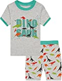 Boys Dinosaur Pajamas Shorts T Shirt & Pants Sets for Kids Cool Summer Children Sleepwear PJ Size 10