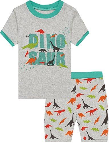 Dino Short - Boys Dinosaur Pajamas Shorts T Shirt & Pants Sets for Kids Cool Summer Children Sleepwear PJ Size 5