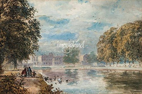 Wall Art Print entitled Paul Jacob Naftel (1817-1891) Buckingham Palace Fr by Celestial Images | 32 x 21