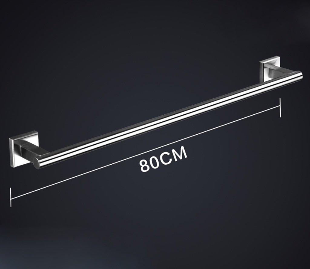 タオルバー 304ステンレス製タオルラック、バスルームラック、バスルームタオルラック、シングルバー引き出しタオルラック ( サイズ さいず : 80センチメートル ) B07CK3PQYX80センチメートル